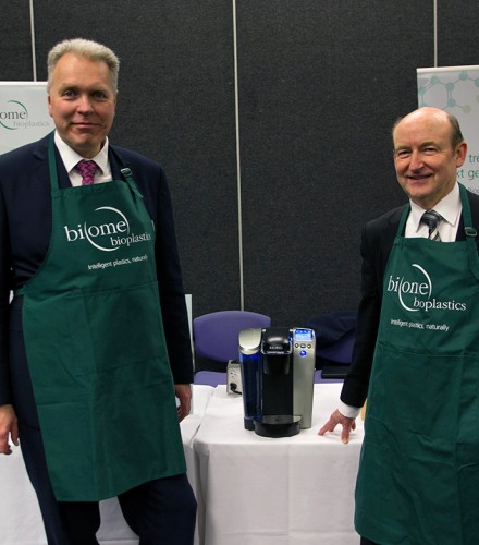 Biome Bioplastics serves taste of industrial biotechnology to Minister for Life Sciences